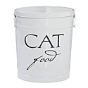 Classic White Cat Food Storage Canister