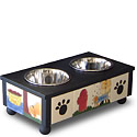 Nancy De Young Personalized Tile Dog Feeder