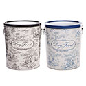 Toile Pet Food Storage Buckets