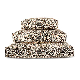 Leopard Canvas Dog Bed