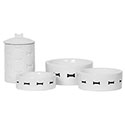 Dog Food Bowl Sets | Pet Food Sets - Dog Food - and - Water - Sets- Treat Tins - Dog Food Storage