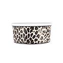 Leopard Dog Food Bowls